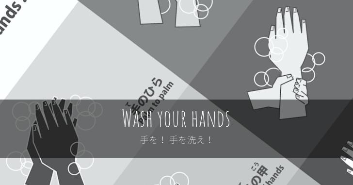 手を! 手を洗え!